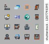 intelligence icon set. vector... | Shutterstock .eps vector #1207793395