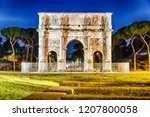 the arch of constantine  a... | Shutterstock . vector #1207800058