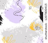 jungle tropical art. botanical...   Shutterstock .eps vector #1207800415