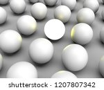 standing out of the crowd. 3d... | Shutterstock . vector #1207807342