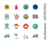 transport icon set. vector set... | Shutterstock .eps vector #1207810522