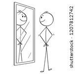 cartoon stick drawing... | Shutterstock .eps vector #1207812742