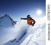 skier in high mountains | Shutterstock . vector #120782392