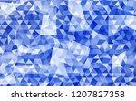 geometric rumpled triangular...   Shutterstock .eps vector #1207827358
