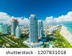 miami beach  south beach ... | Shutterstock . vector #1207831018