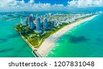 miami beach  south beach ... | Shutterstock . vector #1207831048