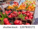 nice  france   october 5  2018  ... | Shutterstock . vector #1207833172