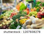 harvest on market   fresh... | Shutterstock . vector #1207838278
