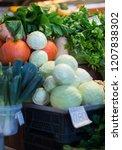 harvest on market   fresh... | Shutterstock . vector #1207838302