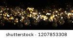 christmas light background. ... | Shutterstock . vector #1207853308
