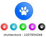 animal cat paw print dog pet... | Shutterstock .eps vector #1207854268