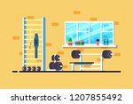 flat style illustration of gym... | Shutterstock .eps vector #1207855492