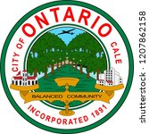 coat of arms of ontario is a...   Shutterstock .eps vector #1207862158