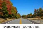 empty asphalt road running... | Shutterstock . vector #1207873408