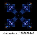 led light. abstract effect.... | Shutterstock . vector #1207878448