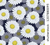 floral pattern with white...   Shutterstock .eps vector #1207880095