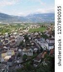 vaduz  liechtenstein on august... | Shutterstock . vector #1207890055