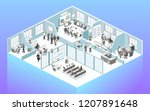 isometric flat 3d abstract... | Shutterstock .eps vector #1207891648