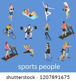 isometric interior of gym.... | Shutterstock .eps vector #1207891675