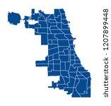 map of chicago | Shutterstock .eps vector #1207899448