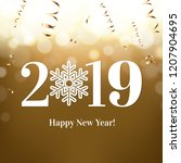 2019 new year postcard  | Shutterstock . vector #1207904695