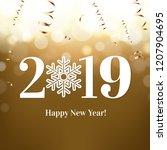 2019 new year postcard  | Shutterstock . vector #1207904695