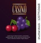 casino poker bets fortune... | Shutterstock .eps vector #1207910668