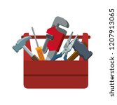 toolbox with tools icons | Shutterstock .eps vector #1207913065