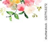hand drawn watercolor bouquet... | Shutterstock . vector #1207913272