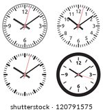 clock collection | Shutterstock .eps vector #120791575