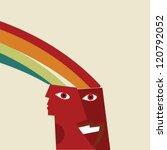 vector positive thinking... | Shutterstock .eps vector #120792052