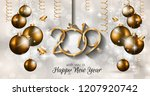 2019 happy new year background... | Shutterstock . vector #1207920742