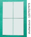 sheet of four us postage stamps.... | Shutterstock . vector #1207927975