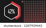 set of hexagon percentage... | Shutterstock .eps vector #1207929442