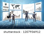 concept of business charts and... | Shutterstock . vector #1207936912