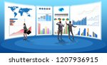 concept of business charts and... | Shutterstock . vector #1207936915