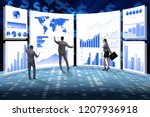 concept of business charts and... | Shutterstock . vector #1207936918
