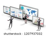 concept of business charts and... | Shutterstock . vector #1207937032