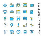 travel trip hotel icons pack... | Shutterstock .eps vector #1207941652