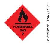 an alert of flammable gas ... | Shutterstock .eps vector #1207942108