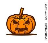 halloween pumpkin vector | Shutterstock .eps vector #1207948345