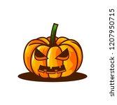 halloween pumpkin icon vector | Shutterstock .eps vector #1207950715