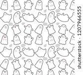 cute ghosts on white background | Shutterstock .eps vector #1207966555