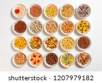 Set Of Different Cereals On A...