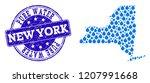 map of new york state vector... | Shutterstock .eps vector #1207991668