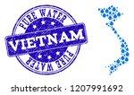 map of vietnam vector mosaic... | Shutterstock .eps vector #1207991692