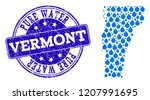 map of vermont state vector... | Shutterstock .eps vector #1207991695