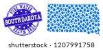 map of south dakota state... | Shutterstock .eps vector #1207991758