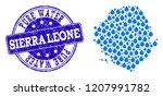 map of sierra leone vector... | Shutterstock .eps vector #1207991782