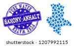map of saxony anhalt state... | Shutterstock .eps vector #1207992115